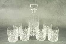 CLASSIC CUT DECANTER WITH 6 GLASSES