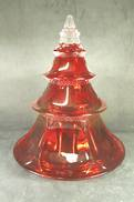 RED GLASS CHRISTMAS TREE