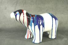 BLUE MARBLE PAINT POLAR BEAR