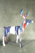 BLUE MARBLE PAINT STAG