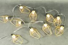 GOLD TRIANGULAR WIRE  BATTERY LIGHTS
