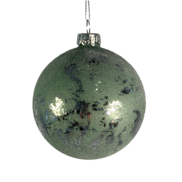 8CMD SAGE GREEN / SILVER GLASS BALL (6)