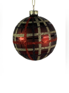 8CMD BURGANDY BALL WITH GLITTER TARTAN (6)