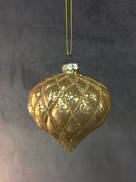 AGED GOLD GLASS ONION HANGER WITH GOLD DECORATION (6)