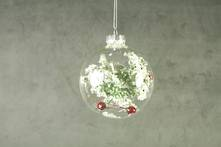8CMD GLASS BALL WITH HOLLY INSET