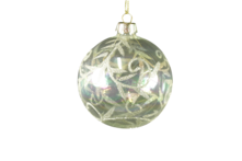 8CMD CLEAR GLASS BALL WITH CHAMPAGNE LEAF PATTERN (6)