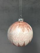 BLUSH PINK GLITTER GLASS BALL