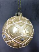 GLASS BALL WITH GOLD DIAMONDS