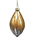 SNOWING GOLD, CLEAR GLASS OLIVE (6)