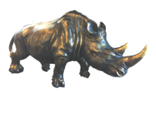 LARGE RESIN RHINO