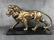 LARGE  WALKING GOLD LION