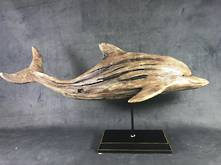 LARGE WOOD LOOK DOLPHIN