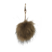 TAN FLUFFY BALL KEYRING
