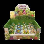 DOZEN BUNNIES IN EGGS SNOWGLOBES