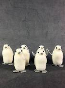 6PCS FLOCKED PENGUINS