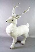 69CMH STANDING DEER WITH FUR COLLAR
