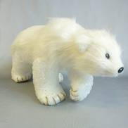 WHITE FUR WALKING POLAR BEAR