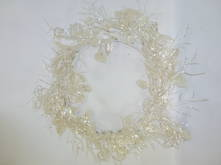 PEARLESCENT WREATH W. LEAVES