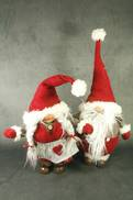 PAIR 50CM MR & MRS CLAUSE GONK