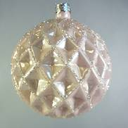 PASTEL PINK GLASS BAUBLE (12)