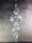 LARGE GLASS IRIDESCENT FINIAL