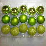 Box 15 Glass balls in shades of Green