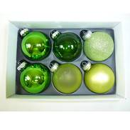 M / MULTI GREEN GLASS DECORATIONS