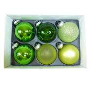 MULTI GREEN GLASS DECORATIONS