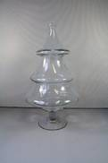 MEDIUM GLASS CHRISTMAS TREE BARREL