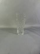 SQUARE GLASS RIDGED VASE
