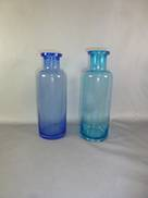 MED BOTTLE GLASS IN AQUA