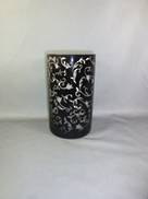 BLACK LASER CUT CYL. VASE