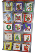 LARGE XMAS CARDS PACK 96, 15DESIGNS