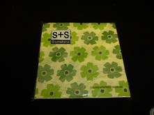 NAPKINS GREEN FLOWERS