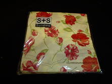 NAPKINS RED POPPY