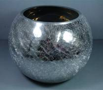 SMALL SILVER CRACKLE GLOBE