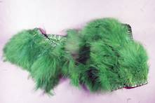 200CML GREEN FEATHER GARLAND