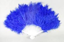 BLUE FEATHER FAN