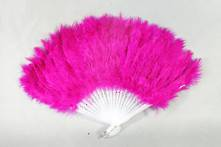FUSCHIA FEATHER FAN