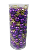 2CMD TUBE 96 PURPLE PLASTIC HANGING BALLS