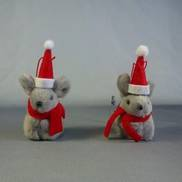DOZ 2ASST SMALL RED XMAS MICE